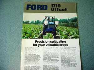 Ford 1710 Offset Farm Tractor brochure                      lw