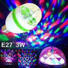 1xAutomic LED Rotating Lamp E27 3W RGB Halloween Disco DJ Party Club Stage Light