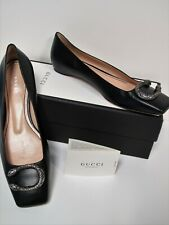 9d1716df24b GUCCI TWO HEADED TIGER DIONYSUS BLACK LEATHER FLATS SIZE 39.5 GORGEOUS SHOES