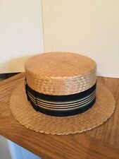 Vintage 1940's STRAW HAT - From Japan -Label is Crown With Wings, 'Best Quality'