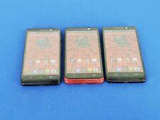 Lot of 3: Motorola Droid Mini - 16GB - Black/Red - Verizon/Unlocked (M3)