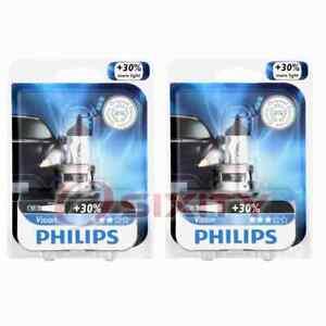 2 pc Philips High Low Beam Headlight Bulbs for GMC Yukon Yukon XL 1500 Yukon mt