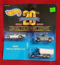 1987 Hot Wheels 20th Anniversary 3 Car Set New In Package Firebird Funny Car