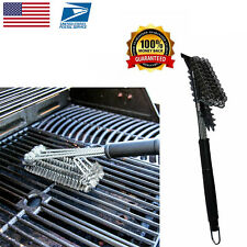 BBQ Grill Bristle Brush Grate Cleaner Stainless Steel Cleaning Tool US New