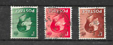 Gb Keviii 1936 Sg457-9wi set of 3, Wmk Inverted. Used Cat £11.