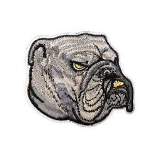 Bulldog Dog (Iron on) Embroidery Applique Patch Sew Iron Badge
