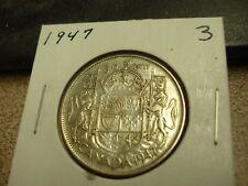 1947 - Silver - Canadian half dollar - Canada 50 cents