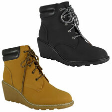 Faux Suede Wedge Ankle Boots for Women