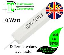 10 Watt Wire wound Cement Resistors  Different values available **UK Seller**