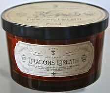 HAVEN STREET CANDLE CO DRAGONS BREATH ORANGE SOY WAX GLASS BALL JAR NEW HHH6309