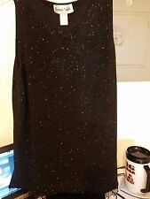 RONNIE NICOLE BY OUIDA FORMAL SLEEVELESS TOP & LONG PANTS SIZE 14 SPARKLING