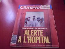 LE NOUVEL OBSERVATEUR N°1258 1988  ALERTE A L'HOPITAL