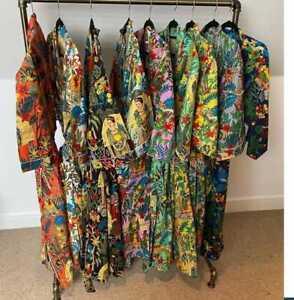 Frida Kahlo Kimono Women's Dressing Indian 100% Cotton Nightwear Kimono Robes UK