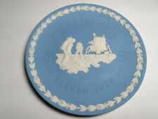 "Wedgwood Blue Jasperware Plate Apollo 11 ""Man on the Moon"" July 20, 1969"