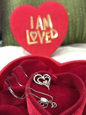 Alwand Vahan 14k Gold Heart Diamond Sterling Silver I Am Loved Necklace Red Box