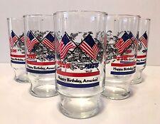 "Vintage Set of 5 Bicentennial Glasses ""Happy Birthday America"" 1776-1976"