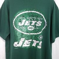 New York Jets T Shirt Vintage 90s NFL Football Crew Neck Green Size XL