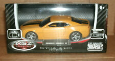 1/43 Scale Chevrolet Camaro SS Diecast Model Car Yellow With Black Stripes
