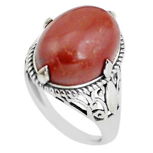 Noreena Jasper Natural Gemstone Cabochon Silver Plated Ring Hand crafts Jewelery Ring Size US-7 GRM-55