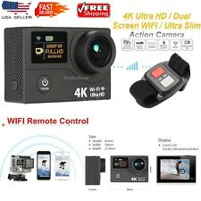 Ultra 4K HD Wifi Dual Screen Action Sport Camera & REMOTE + Gopro Accessoires