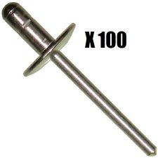 100 pièce pop rivets. 4.8mm x 10mm [BS09110]