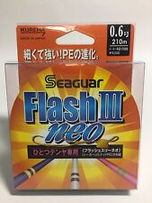 51011) Seaguar FLASH III Neo 8 Braided Limited PE Line #0.6(5.2kg) 210m