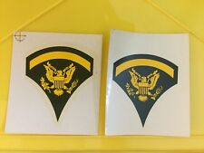 Vietnam US Army Rank Insignia Sticker Decals For Helmet Liners