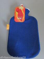 FASHY Wärmflasche 6530 mit kuschelweichen Fleece Bezug blau Neu mit Anhänger