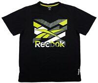 Reebok Men's Black Short Sleeve T-Shirt | L (42)