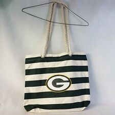 Green Bay Packers Canvas Tote Beach Bag Rope Handles Forever Collectibles Womens