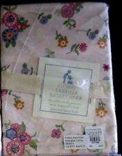 Pottery Barn Kids Sabrina Basket Liner Size XL Pink Tiny Flowers Floral Girl NEW