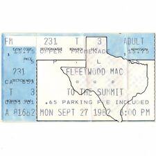 Fleetwood Mac & Men At Work Concert Ticket Stub Houston 9/27/82 Mirage Tour Rare