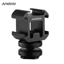 Andoer 3 Cold Shoe Mount Adapter On-Camera Mount Adapter for Canon DSLR Camera