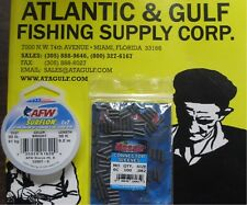 90 LB SURFLON LEADER WIRE + #6 CONNECTOR SLEEVES 100 PK