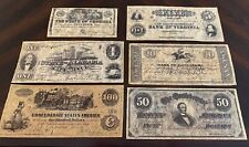 Confederate Currency Parchments - 1st Set