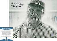 ART LAFLEUR SIGNED THE SANDLOT 'BABE RUTH' 8x10 MOVIE PHOTO BECKETT COA BAS
