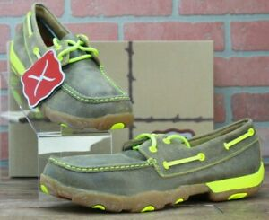 *Men's Twisted X Driving Moc Bomber/Neon Yellow Style# MDM0018 Size 10 M New