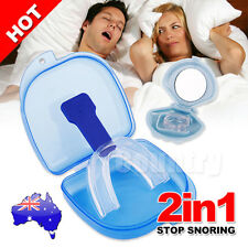 2in1 Stop Snoring Mouthpiece Guard Anti Snore Sleep Apnea Bruxism Aid Teeth