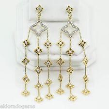 DAVID YURMAN QUATREFOIL 1.50 CT. DIAMOND CHANDELIER EARRINGS 18K YELLOW GOLD