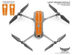 DJI Mavic 2 Pro Zoom Racing Stripes With Battery Decals Number #1-3 Sticker Skin