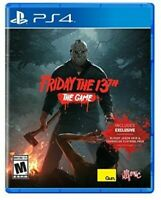 PLAYSTATION 4 PS4 VIDEO GAME FRIDAY THE 13TH BRAND NEW AND SEALED
