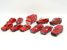 Divers 1/87 HO - Lot de 11 véhicules Pompiers Feuerwehr : Nissan VW Mazda - Ford