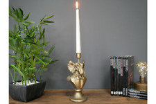 Quirky Retro Antique Vintage Style Gold Elephant Candle Stick Holder Candelabra