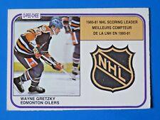 1981-82 O-PEE-CHEE WAYNE GRETZKY HOCKEY CARD #384 ~ SCORING LEADER