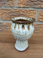 VINTAGE vase goblet shape mid century ceramic collectable.