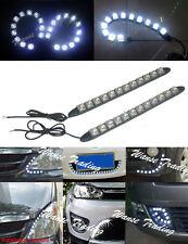 2x Waterproof Flexible 12 SMD LED DRL Daytime Running Light Fog Lamp White Color