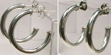 """Quality USA Sterling Silver 25mm Post Type Hoops Ancient Egyptian """"Gods Bones"""""""