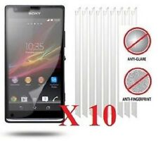 10 X Sony Xperia SP Anti-Glare (Matte) Screen Protectors Film Cover & Free Cloth