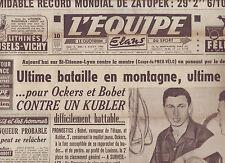 journal  l'équipe  du 05/08/50 CYCLISME TOUR DE FRANCE 1950  CUISSARD BOBET