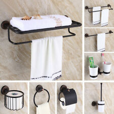 Oil Rubbed Bronze Wall Mount Bathroom Hardware Accessories Set Series Towel Bar